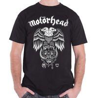 Licensed MOTORHEAD Hiro Double Eagle Lemmy Heavy Metal T-Shirt Black Mens S-XXL