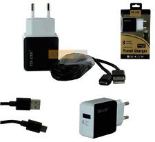 CHARGEUR SECTEUR USB 2,1A + Câble USB Type-C Noir / ONEPLUS 2, 3, 3T, 5, 5T