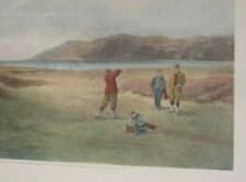 """1894 Golf Lithograph by Henry Graves, painted by Douglas Adams """"The Drive"""""""
