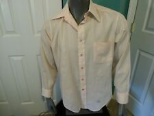 1960S Vintage Men's Jon Maurice By Easley Shirt Union Made Sz 16 Large Peachy