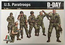 Italeri 309 u.s. paratroops d-day (normandie 1994-2014) modèle 1/35 kit nib