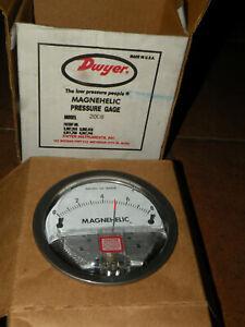 "(1) Dwyer Magnehelic 2008 Pressure Gauge 0-8""  H2O New"