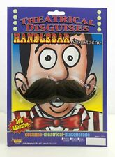 Black Handlebar Moustache Vaudeville Old Man Mustache Barber Shop Quartet