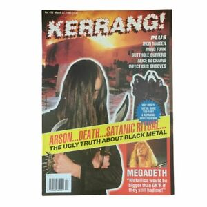 Kerrang Issue 436 Norwegian Black Metal Euronymous Varg Vikernes Very Rare