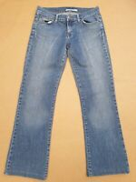 EE868 WOMENS TOMMY HILFIGER FADED BLUE BOOTCUT DENIM JEANS UK 10 US 6 W28 L29