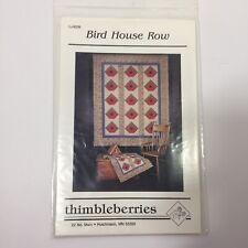 "Bird House Row Quilt Pattern Thimbleberries 56"" x 68"""