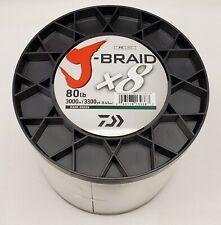 Daiwa J-Braid x8 Braided Line DARK GREEN 80lb, 3300yd - JB8U80-3000DG