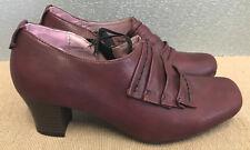 BNWT Ladies Sz 40 9 Rivers Riversoft Brand Burgundy Med Heel Slip On Dress Shoes