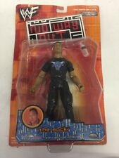 Rare The Rock Action Figure No Way Out Figurine Jakks Pacific 2001 WWE WWF