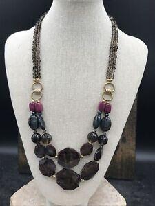 Barse Bowery Necklace- Mixed Stones- Bronze- NWT