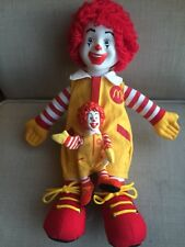 McDonald's Plush Ronald Vinyl Head 2002 Arms Finger Puppet Type Lot 1984