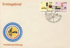Ersttagsbrief DDR MiNr. 1445, 1446, Sicherheit im Straßenverkehr (II)