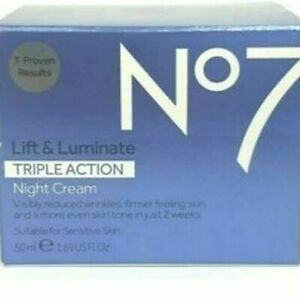 No7 Anti Ageing Wrinkle Reducing Lift & Luminate Triple Action Night Cream 50ml
