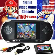 2017 PXP 3 16 BIT PVP HANDHELD PORTABLE VIDEO GAMES CONSOLE 150 RETRO MEGADRIVE