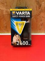 VARTA - Safety Power Bank 2600mAh - Power Bank + schriller Alarm - NEU& OVP
