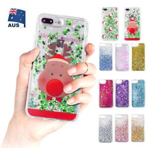 Dynamic Liquid Glitter Quicksand Clear Back Phone Case iPhone XS X 8 7 6 Plus