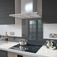 Premier Range Anthracite Grey Glass UPSTAND 140mm x 1000mm
