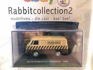 """DIE CAST """" ALFA ROMEO F12 FERRERO - 1968 """" PUBBLICITARI NEW 1/43"""