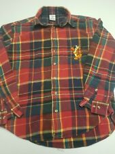Vintage Disney Store Tigger Flannel Button Up Red 90's Winnie The Pooh vtg