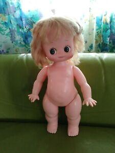 Vintage Kewpie Big Eyes Vinyl Doll 1960s 1970s Kitsch dolly