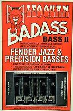 NEW Leo Quan Badass Bass II BRIDGE for Fender P Jazz Grooved, Black BB-0337-003