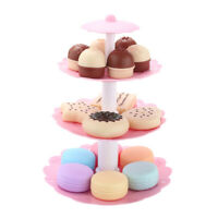 3-Tier Cake Stand and Dessert Kitchen Food Toys Set for Kids Party Accs