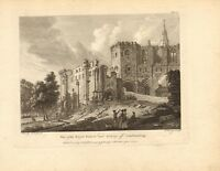 view of the royal palace & abbey of dunfermline. 1780  engraving ! scarce view !