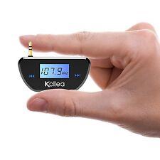 Kollea 3.5mm In-car FM Transmitter Audio Radio Adapter for All Smartphones