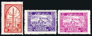 Afghanistan 341-342,342a, MNH. Ruins of Qalai Bist, 1944