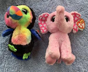 Beanie Boo Bird And Elephant