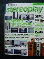 STEREOPLAY 1/00,AUDIOVECTOR M 3,CABASSE SLOOP 500,VIENNA ACOUSTICS MOZART,T+A 13