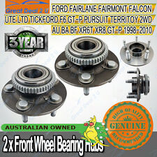 2X Front Wheel Bearing Hubs Hub for Ford Falcon Fairmont AU BA BF Territory ABS