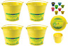 4 x Yellow Citronella Metal Candle Bucket Handle Fly Insect Repellent Deterrent