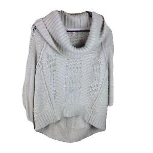 Victorias Secret Womens Size Medium Brown Sweater Chunky Cozy Knit