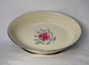 """FLINTRIDGE china DELROSE pattern Oval Serving Vegetable Bowl some Trim Wear 10"""""""