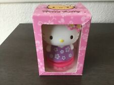 Hawaiian Hello Kitty mini bobble head mascot flower Sanrio NIB