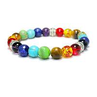 7 Chakra Heilende Balance Perlenarmband Armband aus Naturstein Schmuck GescheW_4