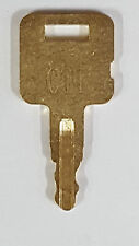 All Metal CAT Heavy Equipment Key-Ignition Key-Caterpillar-ASV-Tigercat-More #89