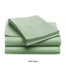 LUXURIOUS SOFT LIGHT SOLID COLOR BED SHEET SET, KING QUEEN FULL TWIN DARK GREEN