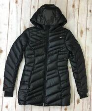 Spyder Women's Black Hooded Down Puffer Jacket Coat Sz Small Ski Snow
