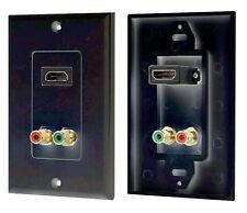New Pyle PHDMRBC2 HDMI/Stereo Dual RCA Audio Combo Wall Plate