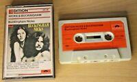 Nicks and Buckingham RARE Audio Tape Cassette Polydor Paper Labels Original 1973