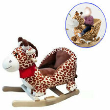 Animal Baby Rocking Horse Children Toy Seat Giraffe with 32 Songs Ride Wood UK