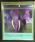 Tribute To The Elephants Collection Night Run Pro Framed Matted Signed Print VG+