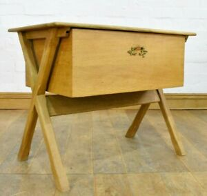 Danish deep drawer sewing table - coffee table - side table