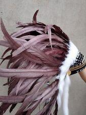 brown chief indian feather headdress indian war bonnet for halloween