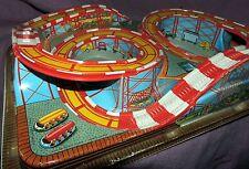 1950s RARE Vintage Coney Island Roller Coaster Ohio Arts Technofix WIND-UP TIN