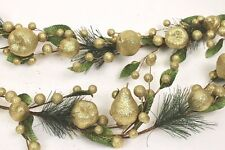 Gisela Graham Weihnachten Gold Glitter Früchte Brine Apfel Blatt Tannenholz