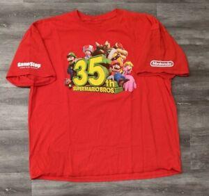 RARE Super Mario Bros 35th Anniversary Game Stop T-Shirt GameStop promo