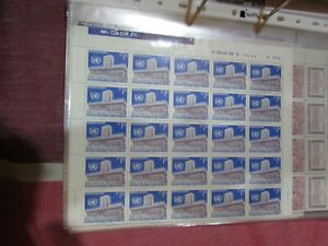 CHILE 1972 full sheet UNCTAD III blue 1.15 Eº MNH